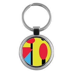 Abstract Landscape Key Chains (round)  by Valentinaart
