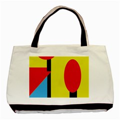 Abstract Landscape Basic Tote Bag (two Sides) by Valentinaart