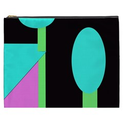 Abstract Landscape Cosmetic Bag (xxxl)  by Valentinaart