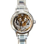 Tiger Round Italian Charm Watch