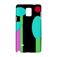 Abstract Landscape Samsung Galaxy Note 4 Hardshell Case by Valentinaart