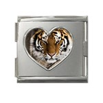 Tiger Mega Link Heart Italian Charm (18mm)