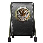 Tiger Pen Holder Desk Clock