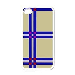 Elegant Lines Apple Iphone 4 Case (white) by Valentinaart