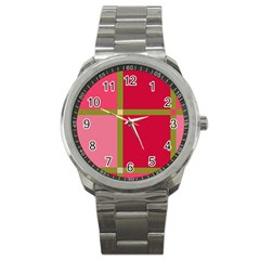Red And Green Sport Metal Watch by Valentinaart