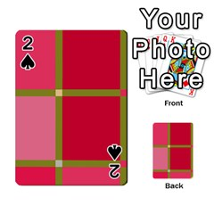 Red And Green Playing Cards 54 Designs  by Valentinaart