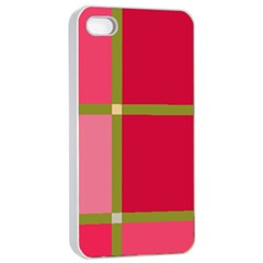Red And Green Apple Iphone 4/4s Seamless Case (white) by Valentinaart
