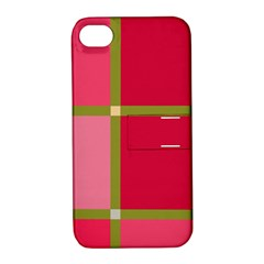 Red And Green Apple Iphone 4/4s Hardshell Case With Stand by Valentinaart