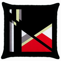 Red And Black Abstraction Throw Pillow Case (black) by Valentinaart