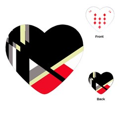 Red And Black Abstraction Playing Cards (heart)  by Valentinaart