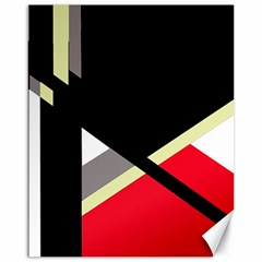 Red And Black Abstraction Canvas 16  X 20   by Valentinaart