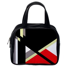 Red And Black Abstraction Classic Handbags (one Side) by Valentinaart