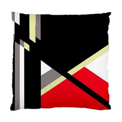 Red And Black Abstraction Standard Cushion Case (one Side) by Valentinaart
