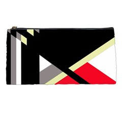 Red And Black Abstraction Pencil Cases by Valentinaart