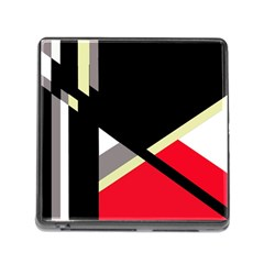 Red And Black Abstraction Memory Card Reader (square) by Valentinaart