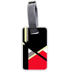 Red And Black Abstraction Luggage Tags (one Side)  by Valentinaart