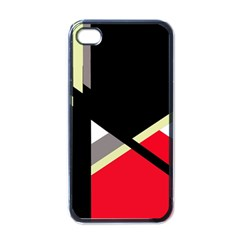Red And Black Abstraction Apple Iphone 4 Case (black) by Valentinaart