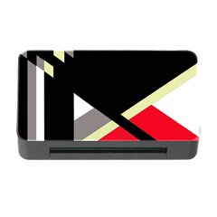 Red And Black Abstraction Memory Card Reader With Cf by Valentinaart