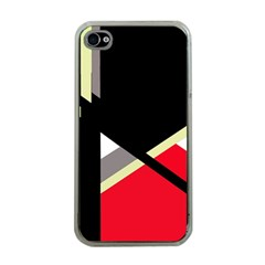 Red And Black Abstraction Apple Iphone 4 Case (clear) by Valentinaart