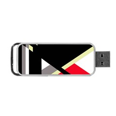 Red And Black Abstraction Portable Usb Flash (one Side) by Valentinaart