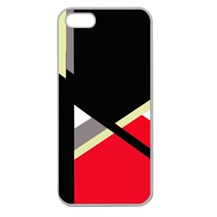 Red And Black Abstraction Apple Seamless Iphone 5 Case (clear) by Valentinaart