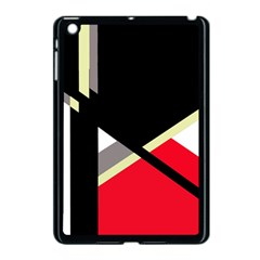 Red And Black Abstraction Apple Ipad Mini Case (black) by Valentinaart