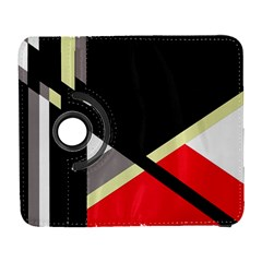 Red And Black Abstraction Samsung Galaxy S  Iii Flip 360 Case by Valentinaart