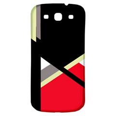 Red And Black Abstraction Samsung Galaxy S3 S Iii Classic Hardshell Back Case by Valentinaart