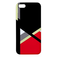 Red And Black Abstraction Apple Iphone 5 Premium Hardshell Case by Valentinaart