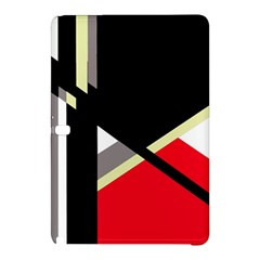 Red And Black Abstraction Samsung Galaxy Tab Pro 12 2 Hardshell Case by Valentinaart