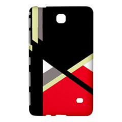 Red and black abstraction Samsung Galaxy Tab 4 (8 ) Hardshell Case  by Valentinaart