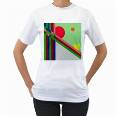 Decorative Abstraction Women s T Shirt (white) (two Sided) by Valentinaart