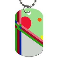 Decorative Abstraction Dog Tag (two Sides) by Valentinaart