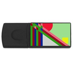 Decorative Abstraction Usb Flash Drive Rectangular (4 Gb)  by Valentinaart