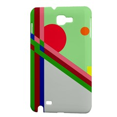 Decorative abstraction Samsung Galaxy Note 1 Hardshell Case by Valentinaart