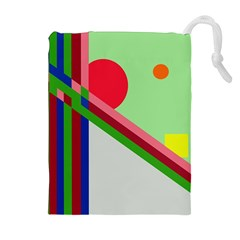 Decorative Abstraction Drawstring Pouches (extra Large) by Valentinaart