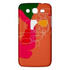 Orange Abstraction Samsung Galaxy Mega 5 8 I9152 Hardshell Case  by Valentinaart