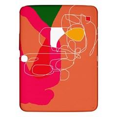 Orange Abstraction Samsung Galaxy Tab 3 (10 1 ) P5200 Hardshell Case  by Valentinaart