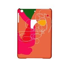Orange Abstraction Ipad Mini 2 Hardshell Cases by Valentinaart