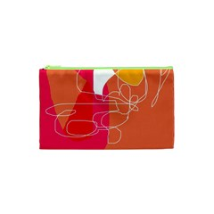 Orange Abstraction Cosmetic Bag (xs) by Valentinaart