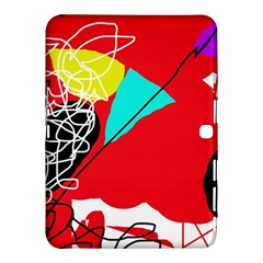 Colorful abstraction Samsung Galaxy Tab 4 (10.1 ) Hardshell Case  by Valentinaart