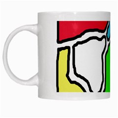 Colorful Abtraction White Mugs by Valentinaart