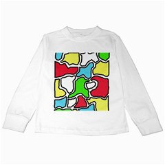 Colorful Abtraction Kids Long Sleeve T Shirts by Valentinaart