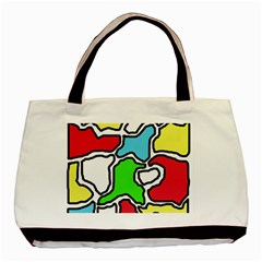 Colorful Abtraction Basic Tote Bag by Valentinaart