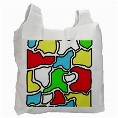 Colorful Abtraction Recycle Bag (one Side) by Valentinaart