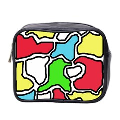 Colorful Abtraction Mini Toiletries Bag 2 Side by Valentinaart