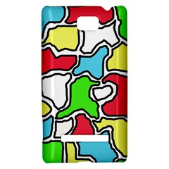 Colorful abtraction HTC 8S Hardshell Case