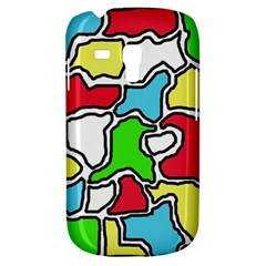 Colorful Abtraction Samsung Galaxy S3 Mini I8190 Hardshell Case by Valentinaart