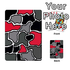 Black, Gray And Red Abstraction Multi Purpose Cards (rectangle)  by Valentinaart