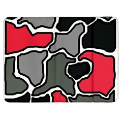 Black, Gray And Red Abstraction Samsung Galaxy Tab 7  P1000 Flip Case by Valentinaart